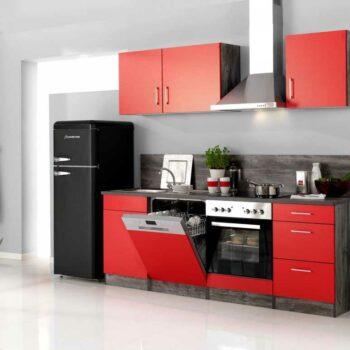 Кухня красного цвета «РН1»