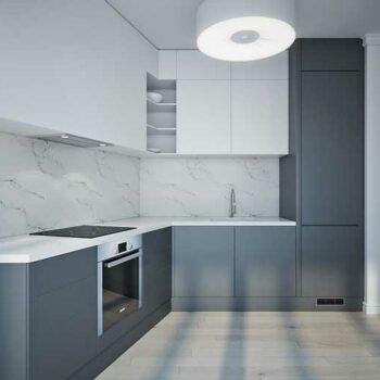 Кухня серого цвета «ЦА1»