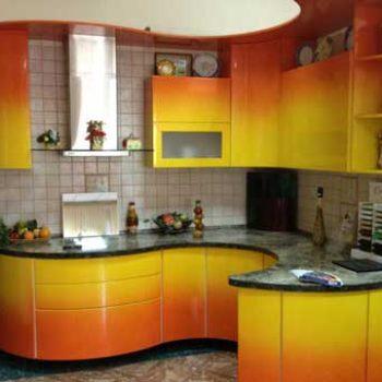Кухня с цветным переходом «ГР3»