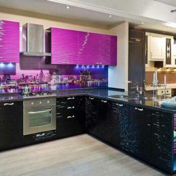 Кухня с 3D фасадами «Д2»
