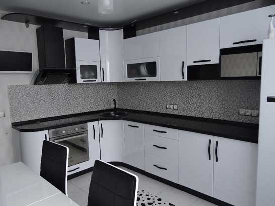 Кухня белого цвета «БЛ1»