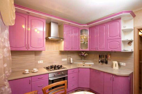 Розовая кухня «ОВ1»