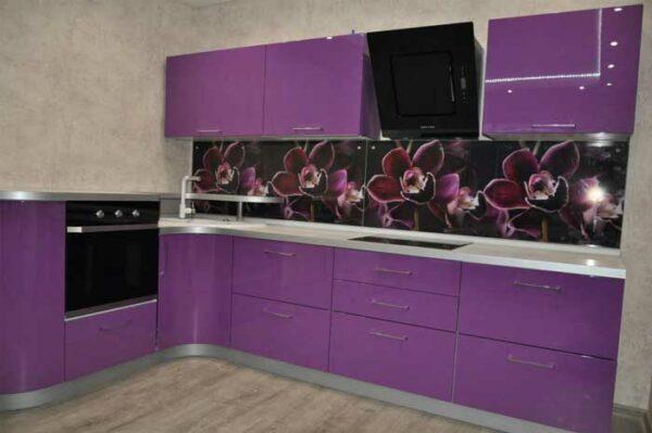 Пурпурная угловая кухня «ПУ2»