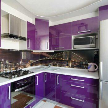 Кухня с пластиковыми фасадами «ПУ4»