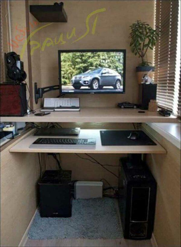 Компьютерный стол для балкона