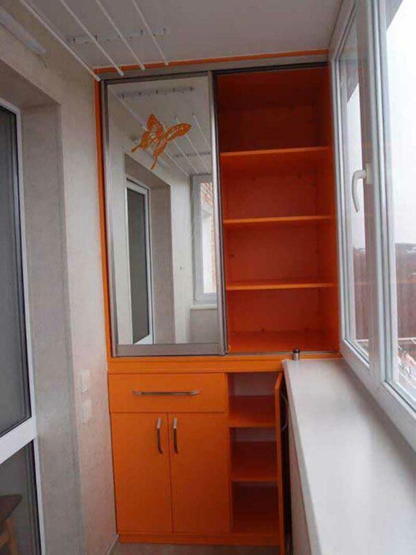 Шкаф-купе для лоджии «Линг»
