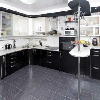Угловая кухня с барной стойкой «КБ1»