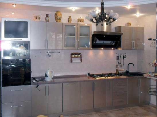 Кухня серебристого цвета «БР1»