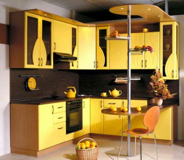 Угловая кухня с прямым углом «КП2»