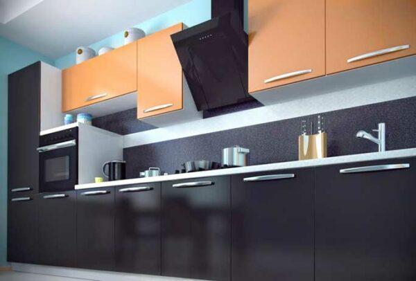 Линейная матовая кухня «ЭМ2»