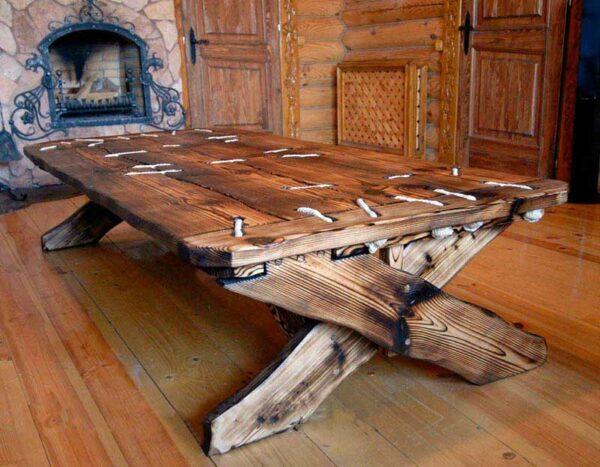 Обеденный стол из массива «Русь»