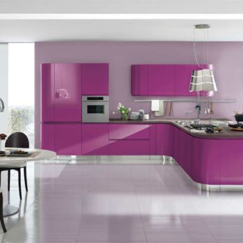 Кухня пурпурного цвета «ПУ1»