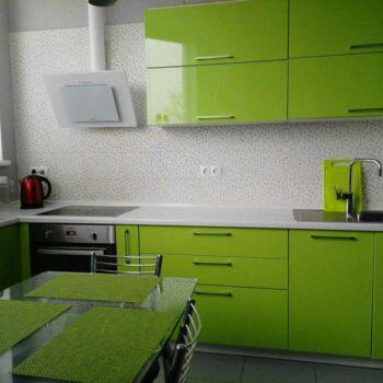 Кухня зеленого цвета «ЛЕ1»