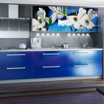 Кухня синего цвета «СГ1»