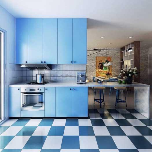 Голубая кухня «ГУ2»