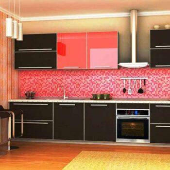 Угловая кухня с фасадом из пластика»ПЛ5″