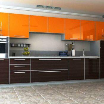 Кухня с пластиковыми фасадами «ПЛ2»