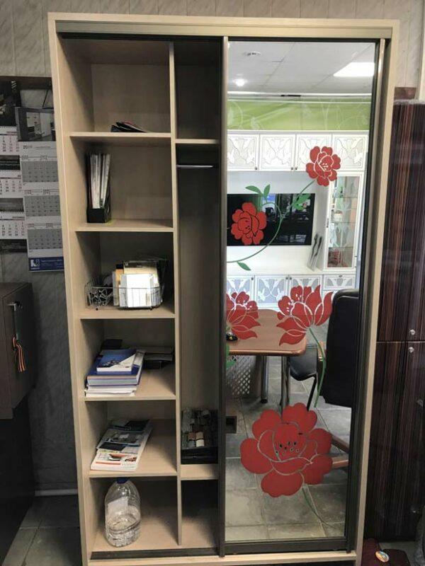 Шкаф купе с цветной печатью «Винц»