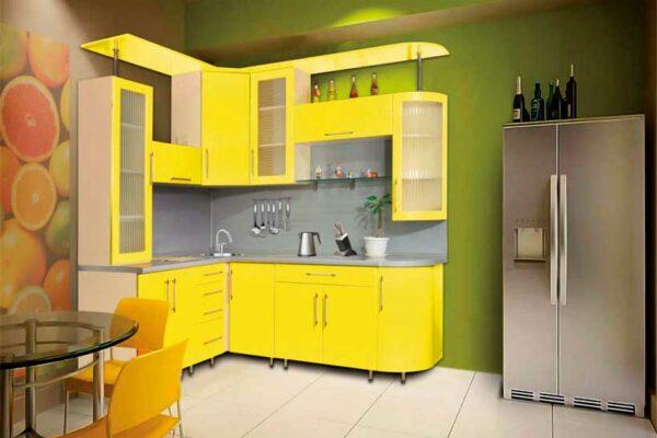 Ярко желтая кухня «Ж1»