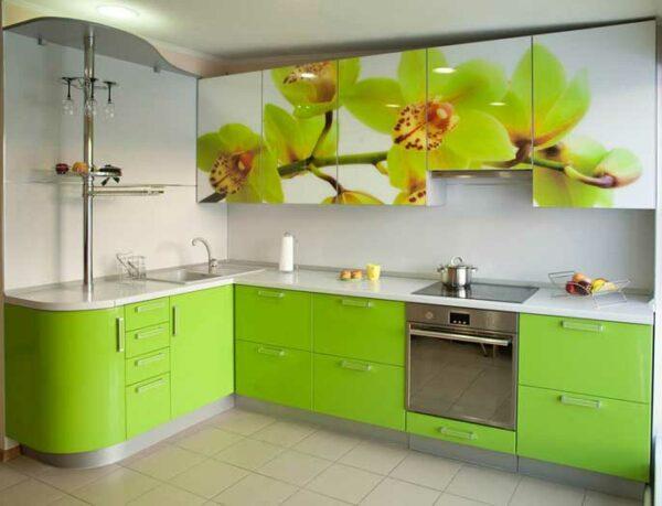 Кухня с фотопечатью «ЛЕ6»