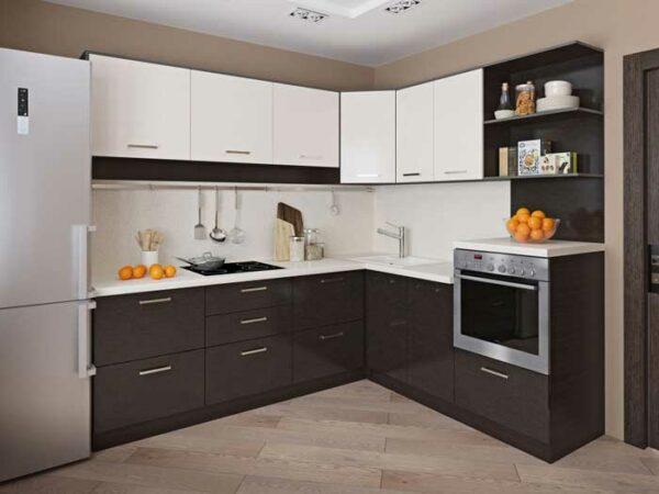 Угловая двухцветная кухня «ДЦ2»
