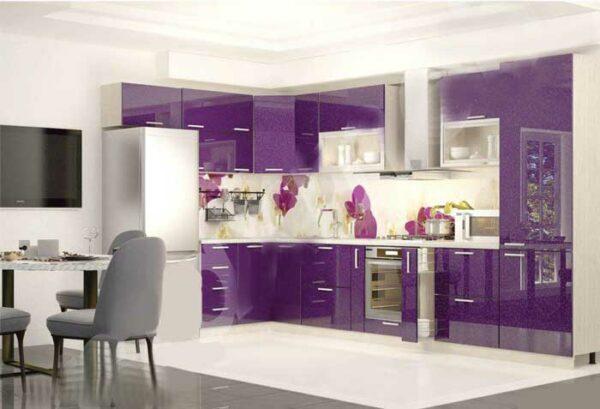 Кухня фиолетовый металлик «ЛВ1»