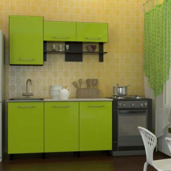 Зеленая мини кухня «ЛЕ2»