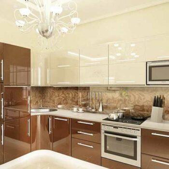Кухня с глянцевыми фасадами «ГЛ2»