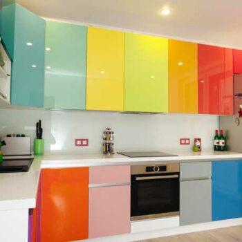 Разноцветная кухня «КТ2»