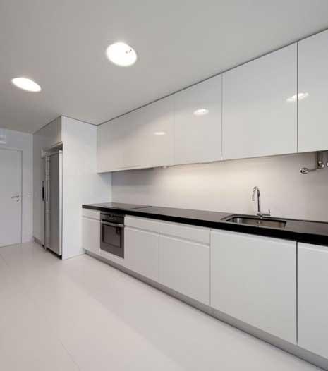 Кухня в белой пленке «БЛ3»