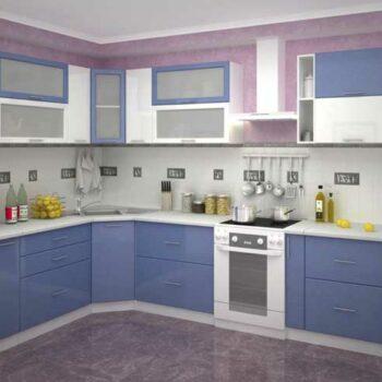 Угловая кухня с косыми углом «КУ2»