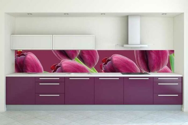Кухонный гарнитур фиолетового цвета «ЛВ2»