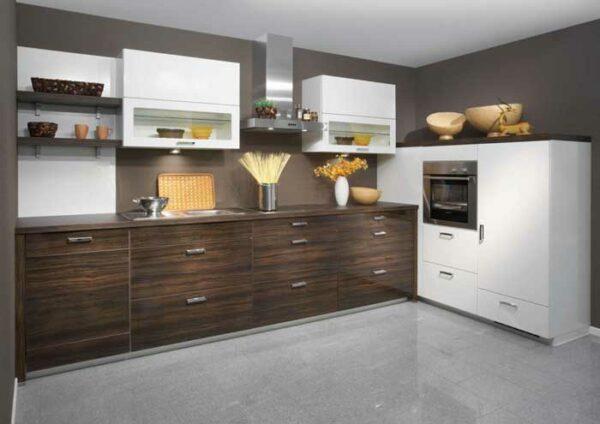 Кухня с фасадом из шпона «Ш1»