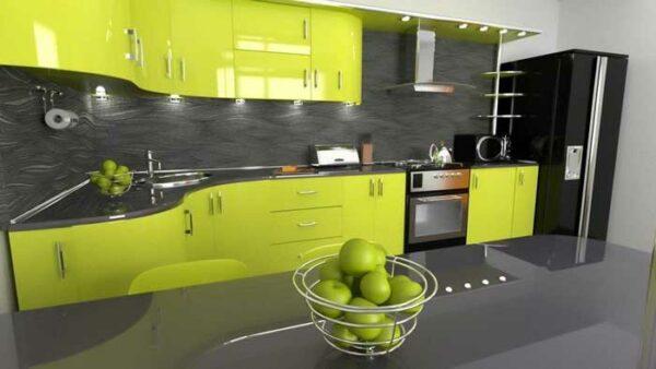 Угловая кухня глянец «ЛЕ4»