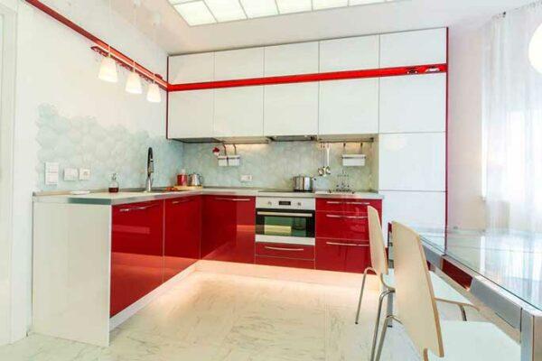 Красная глянцевая кухня «РН5»