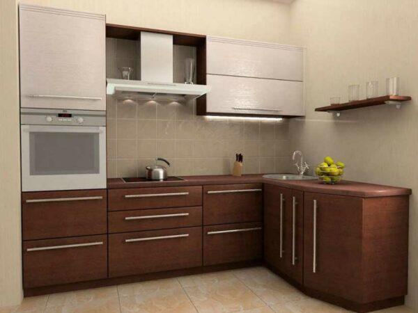 Угловая ЛДСП кухня «ДЦ4»