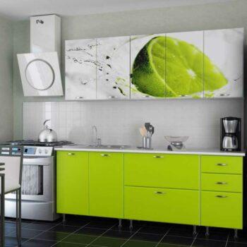 Салатовая кухня с фотопечатью «КТ5»