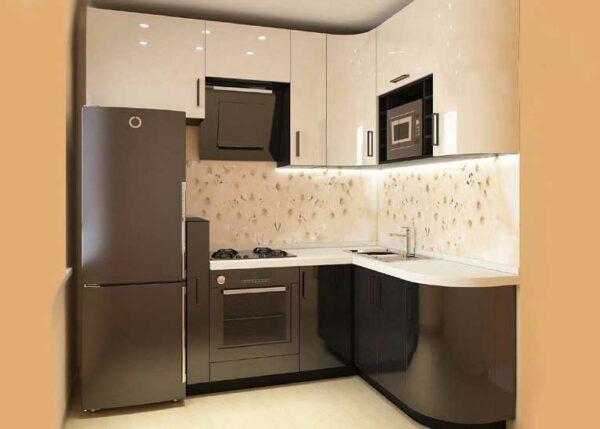 Угловая малогабаритная кухня «№16»