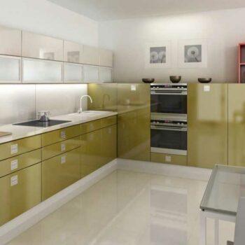 Кухня в глянцевой пленке «ГЛ4»