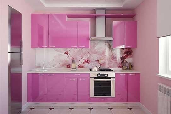 Кухня розового цвета «ОВ4»