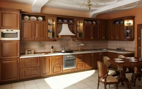 Угловая кухня в классическом стиле «РЕ4»