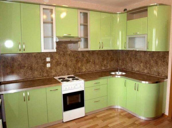 Радиусная Г кухня «РУ6»
