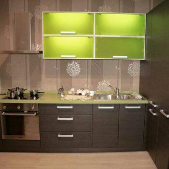 Кухня со стеклянным фасадом «СТ2»