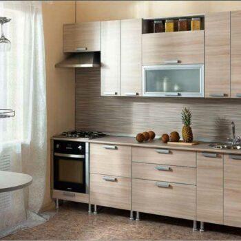 Прямая кухня с фасадами ДСП «ЛП5»