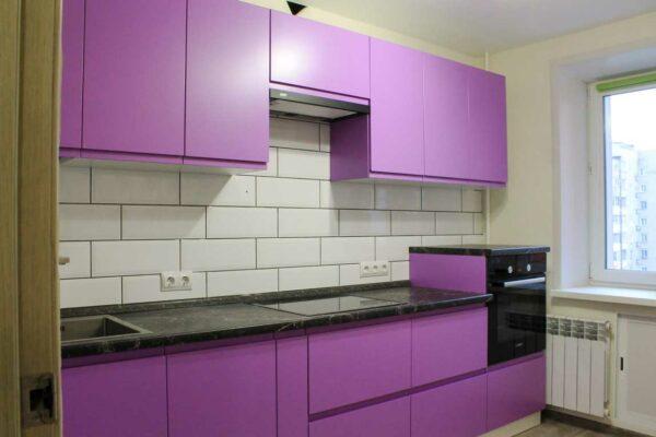 Матовая кухня фиолетового цвета «МТ4»
