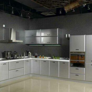 Серебристая кухня «БР2»