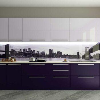 Кухня из двуцветного пластика «ДЦ5»